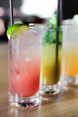 Watermelon, Cucumber, and Cantaloup Soda Mocktails